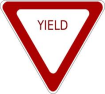 Yield Red Sign