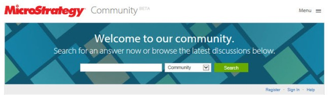 MicroStrategy Community Banner