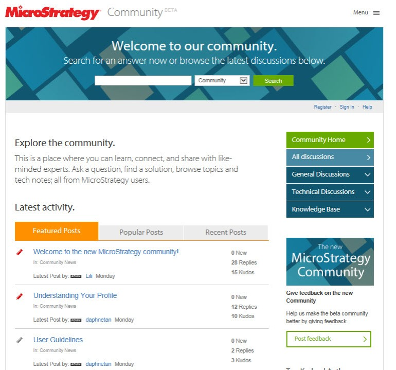 MicroStrategy Community