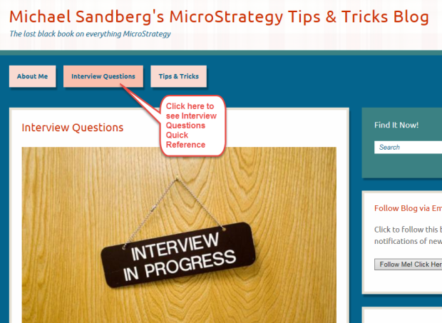 MicroStrategy Certification | Michael Sandberg\'s MicroStrategy Tips ...
